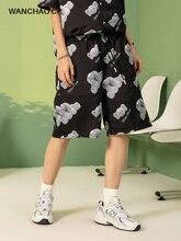 WANCHAO СР хип-хоп панк мода Марка летний новый мини-слона полный печать свободного покроя брюки женщины/мужчины свободные прямые спортивные брюки