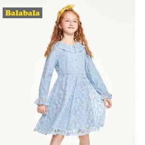Image 2 - Balabala vestido de princesa de encaje, ropa de algodón, adorables largo, Otoño, 2019