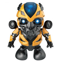 Dancing Robot Iron Man Cute LED Music Toy Superhero Funny Avenger Toys For Children Adult
