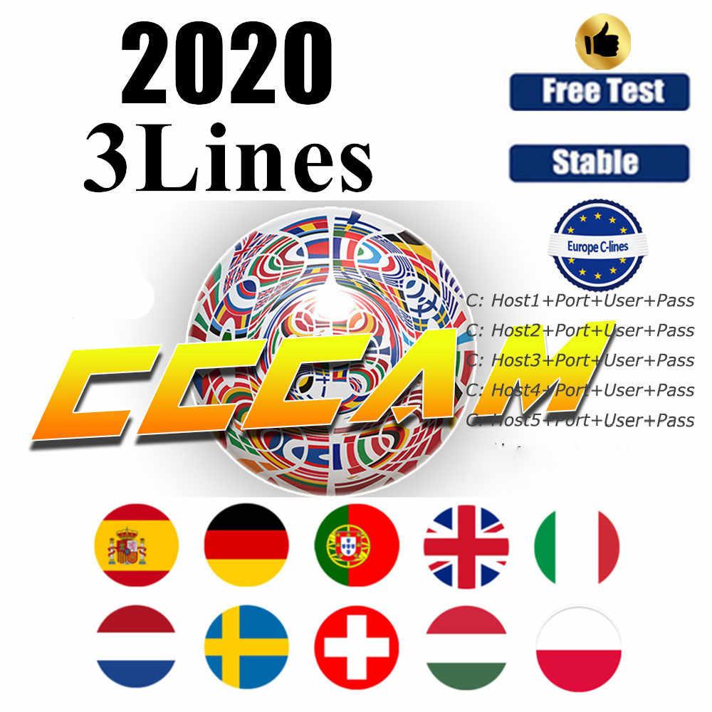 2020 nowy 1 /2 rok cccam do kanałów satelitarnych odbiornik tv linii WIFI FULL HD DVB-S2 wsparcie za pośrednictwem USB Wifi wsparcie v7s v8 nova V9 Super
