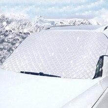 Kayme auto windschutzscheibe schnee abdeckung aluminium film Verdicken, Automobil sonnenschirm Protector für schnee eis und frost, sonnenblende 187*95cm