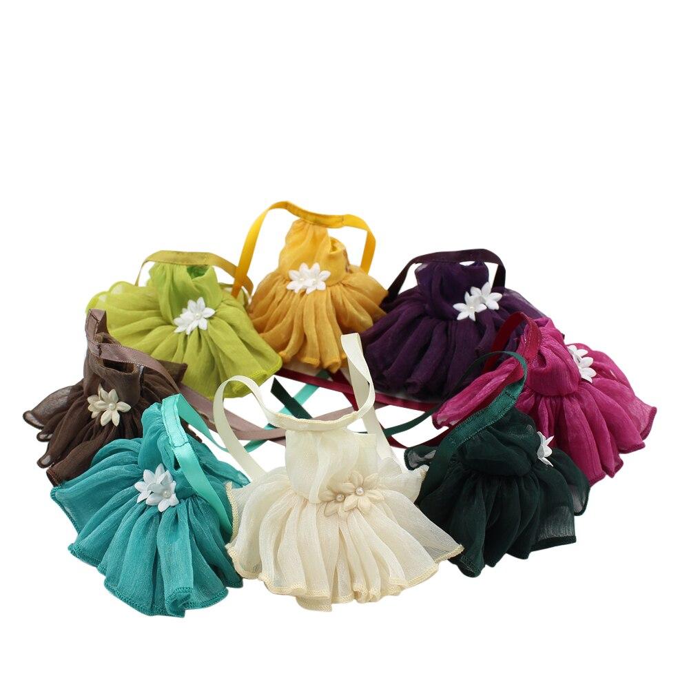 Наряды для кукла платье средней длины с цветами восемь цветов на выбор элегантная одежда 1/8 bjd