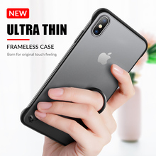 Phone Case Frameless For iPhone XR XS MAX Transparent Matte Hard Covers X 6 7 8 6S Plus Cover With Finger Ring Cases