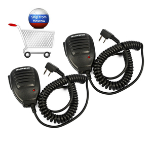 Image 1 - 2PCS Baofeng Speaker Mic Walkie Talkie Microphone Speaker MIC Accessories for Baofeng UV 5R BF 888 Baofeng UV 82 Two way radio.