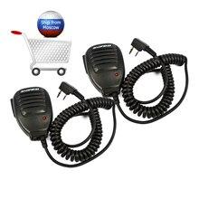 Baofeng altavoz de micrófono Walkie Talkie, accesorios de micrófono para Baofeng UV 5R BF 888 Baofeng UV 82 radio bidireccional, 2 uds.