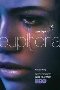 Serie de TV de Euphoria Zendaya 2019, pegatina de pared, decoración para el hogar, Póster Artístico de seda