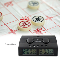 Digital Chess Clock Count Up Down Timer Electronic Board Game Player Set Portable Handheld Man Piece Master