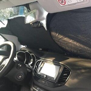 Image 3 - Araç ön camı kapak pencere güneş koruyucu ön arka pencere katlanabilir gölge kalkanı Visor UV blok ön arka cam