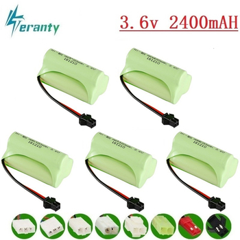 (T Model ) 3.6v 2400mah NiMH Battery For Rc toys Car Tanks Trains Robot Boat Gun Ni-MH AA 700mah 3.6v Rechargeable Battery 10pcs