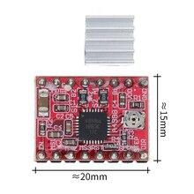100 adet/grup! Ücretsiz kargo!! Step step sürücü A4988 step motor sürücü + ısı yutucular 3D yazıcı
