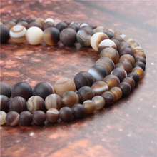 Wholesale Fashion Jewelry Coffee Agate 4/6/8/10 / 12mm Suitable For Making Jewelry DIY Bracelet Necklace