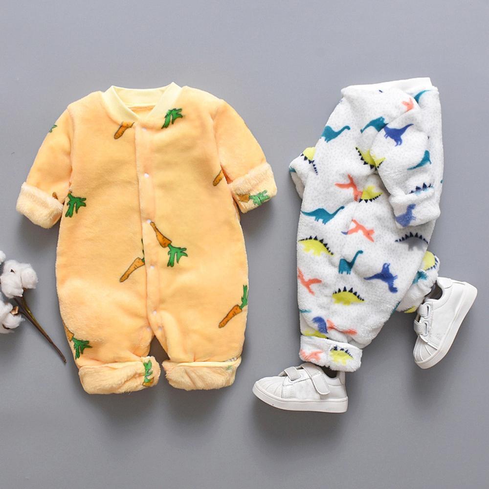 Herfst Winter Baby Rompertjes Dragen Pasgeboren Baby Coral Fleece Merk Jumpsuit  Meisjes Baby Jongens Romper Waggel Kleding 10