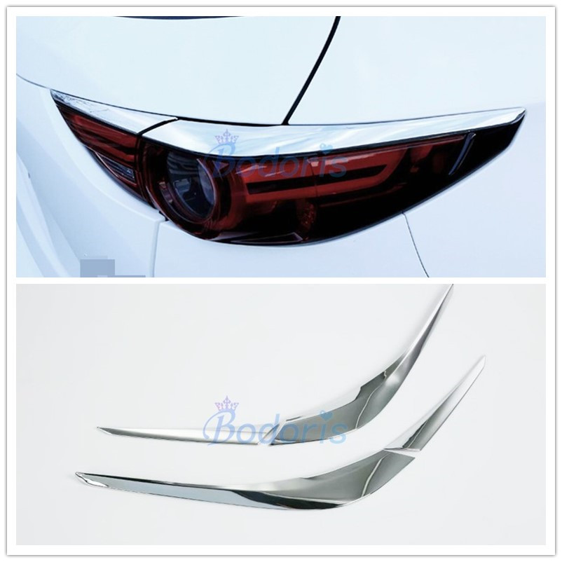 For Mazda <font><b>CX</b></font>-<font><b>5</b></font> CX5 KF 2017 <font><b>2018</b></font> 2019 2020 Taillight Trim Rear Light Eyebrow Frame Panel Chrome Car-styling Accessories image
