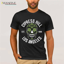 Officially Licensed Cypress Hill - Sugar Skull Mens T-Shirt Short  Casual Cotton O-Neck