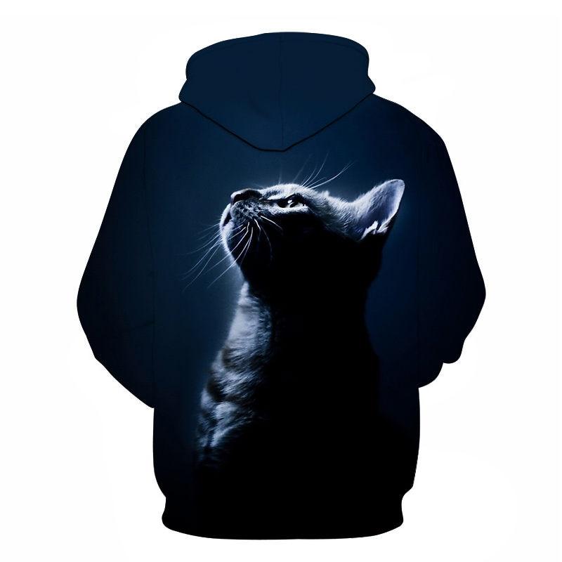 Women's Two Cat Sweatshirts Long Sleeve 3D Hoodies Sweatshirt Pullover Tops Blouse Pullover Hoodie Poleron mujer Confidante Tops 92