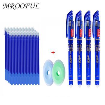 Erasable Gel Pen Set 0.5mm Red Black Blue Ink Washable Handle Erasable Pen Refills Rods Office School Supplies Kawaii Stationery kawaii small fresh style erasable gel pen refills is blue ink and black ink a magical writing neutral pen