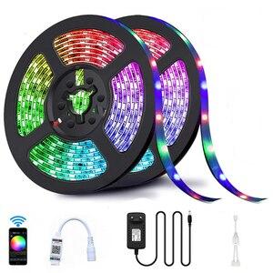 Светодиодная лента, Светодиодная лента с Bluetooth, водонепроницаемая, 20 м, RGB 5050 SMD, 5 м, 10 м, 12 в пост. Тока