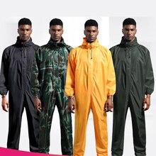 Raincoat /Conjoined Men Raincoat/overalls Men and Women Fission Rain Suit Rain Coat Hooded Womens Raincoat