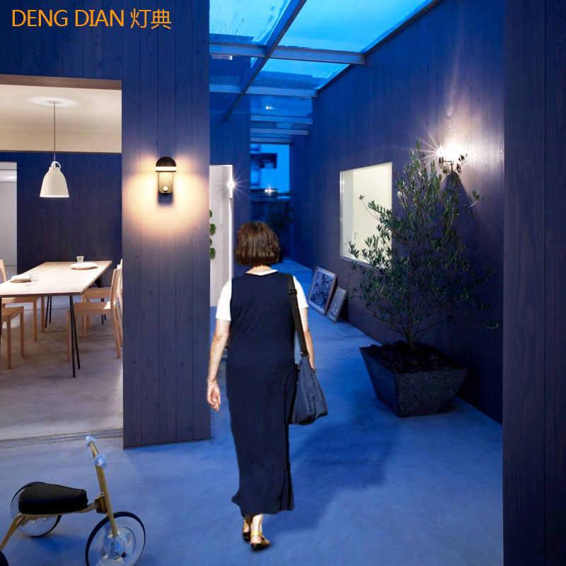 Yenilik dış mekan aydınlatma ledi hareket sensörlü ışık duvar ışıkları su geçirmez alüminyum duvar lambası koridor koridor giriş sundurma ışık