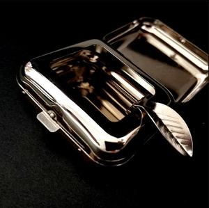 Image 4 - New Arrival Smallsweet Stainless Steel Square Pocket Ashtray metal Ash Tray Pocket Ashtrays With Lids Portable Ashtray