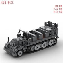 hot ww2 military German Army sdkfz Special motor vehicle 7 Lightning war weapon equipment Building Blocks model bricks toys gift