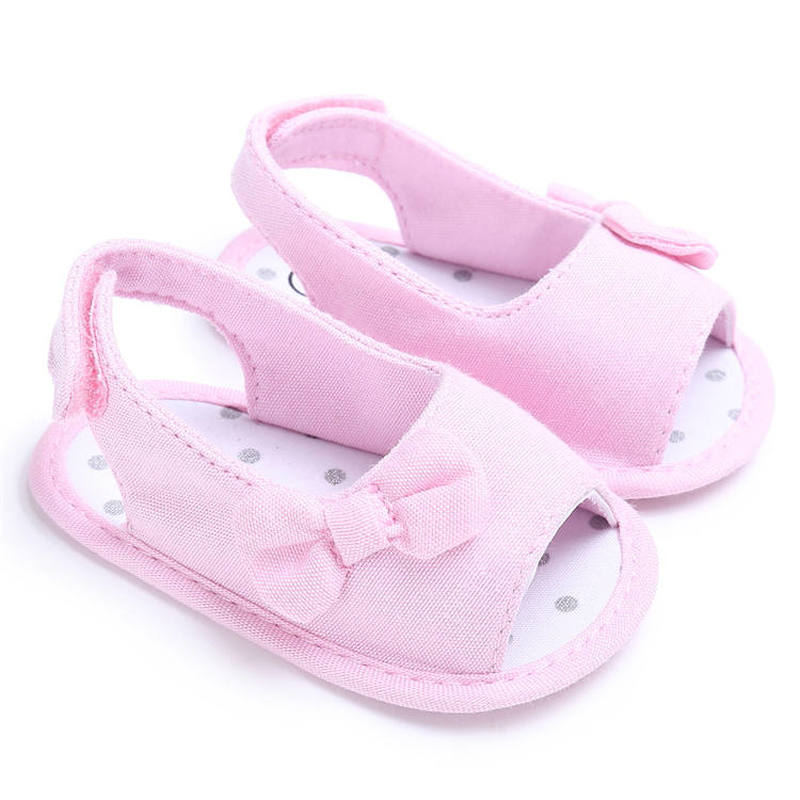 Summer Girl Infant  Sandals Cute Bowknot Anti-Slip Cotton Sole 0-2 Years Toddler Baby First Walkers Party Gift Princess Shoes