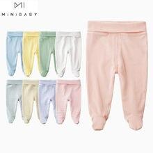 Nowonarodzone spodnie dla niemowląt unisex bawełna organiczna legged wysokiej talii pielęgnacja brzucha baby Girl spodnie chłopięce spodnie cauusual długie noworodka spodnie