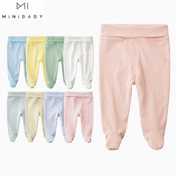 Newborn baby pants unisex organic Cotton legged High Waist Belly Care Baby Girl Pant Boys Trousers causual long Newborn Trousers levi s baby boys newborn coulter pant