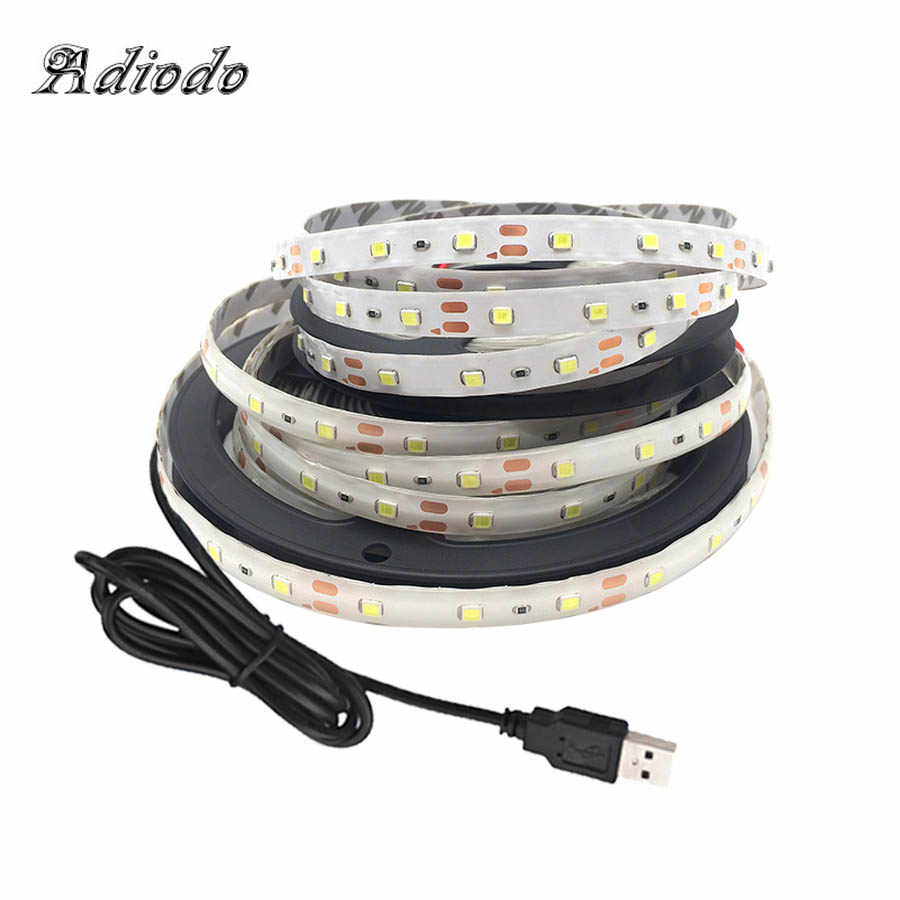 5V USB güç LED şerit işık 2835 SMD HDTV TV masaüstü bilgisayar ekran arka ışık ve önyargı aydınlatma 1M 2M 3M 4M