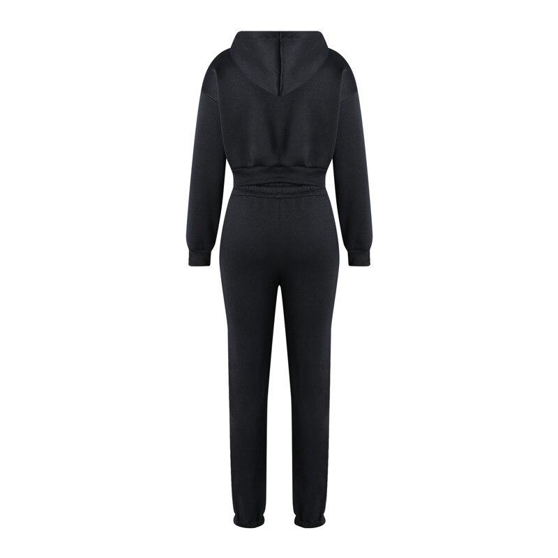 Fashion Women Tracksuit Outfits Long Sleeve Hoodies Sweatshirt And Sweatpants Casual Sports 2 Piece Set Lady Running Sweatsuits 6