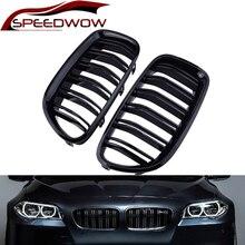 SPEEDWOW Front Grill Grille Gloss Black Kidney Sport For BMW F10 F18 F02 F11 M5 10-15 Dual Slat