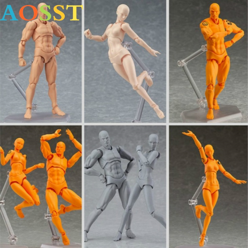 Anime Archetype Hij Ze Ferriet Figma Movable <font><b>Body</b></font> Feminino Kun <font><b>Body</b></font> Chan PVC <font><b>Action</b></font> <font><b>Figure</b></font> Model Voor Collectible Garage Kit image