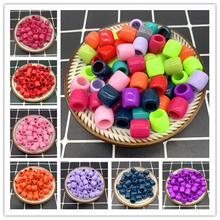 20Pcs 11x11mm Cylinder Big Hole Plastic Beads Spacer Loose Beads for Jewelry Making DIY Handmade Bracelet Accessories