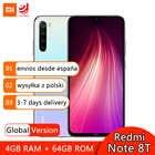 Глобальная версия смартфона Xiaomi Redmi Note 8T 64 Гб 128 ГБ Восьмиядерный Snapdragon 665 48MP Quad Camera 4000 мАч NFC мобильный телефон