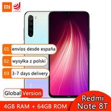 Globalna wersja Xiaomi Redmi Note 8T 64GB 128GB Smartphone Snapdragon 665 Octa Core 48MP Quad Camera 4000mAh NFC telefon komórkowy