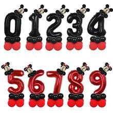 Ballons Disney Mickey Minnie Mouse en aluminium, 14 pièces, 32 pouces, pour fête d'anniversaire, pour enfants, décorations pour fête prénatale