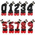 14 шт. Disney Микки Мышь Фольга шарики комплект 32 дюймов номер День рождения воздушные шары на день рождения для детей украшения Baby Shower шар