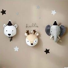 Feutre de cygne, têtes d'animaux pour enfants, décoration murale, tête de cygne, pour chambre d'anniversaire pour fille, pour bébé garçon, décoration murale pour chambre d'enfant