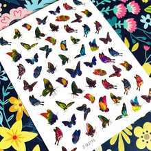 Newest ZD sereis Z-D3709 colorful butterflies 3d nail art sticker nail decal stamping export japan newest haxx 49 50 51 3d nail art sticker back glue nail decal stamping japan type nail decoration tools