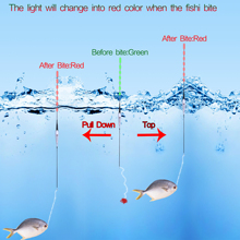 Smart Fishing Float Bite Alarm Fish Bait LED Light Color Change  fishing led floats floating bobbers