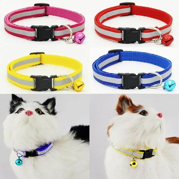 Adjustable Pet Cat Dog Puppy Reflective Collar Safety Buckle Bell Neck Strap Collar Safety Buckle Bell Neck Strap Collar Safety image