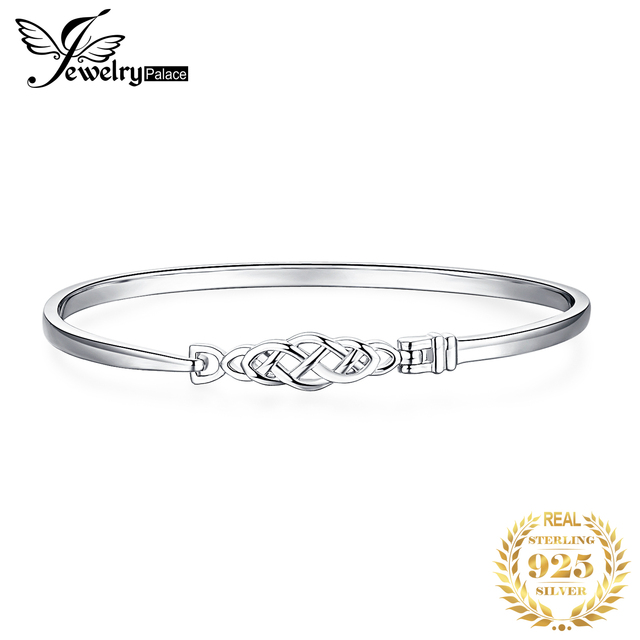 JPalace Crown Celtic Knot Bracelet 925 Sterling Silver Bangles Bracelet Bracelets For Women Silver 925 Jewelry Making Organizer