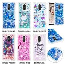 Bling Liquid Quicksand Phone Case For LG Stylus 3 Stylo 4 5 K10 K8 K4 2017 2018 K40 K30 K12 K20 Plus Cover Dynamic Soft TPU Case