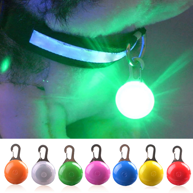 Glowing Pet Pendant LED Dog Collar Lighting For Night Safety  1