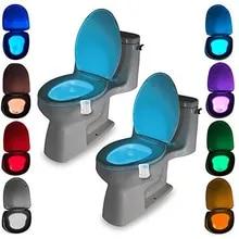 Toilet-Light Luminaria-Lamp Motion-Sensor Waterproof Backlight 8-Colors for WC LED Wholesale
