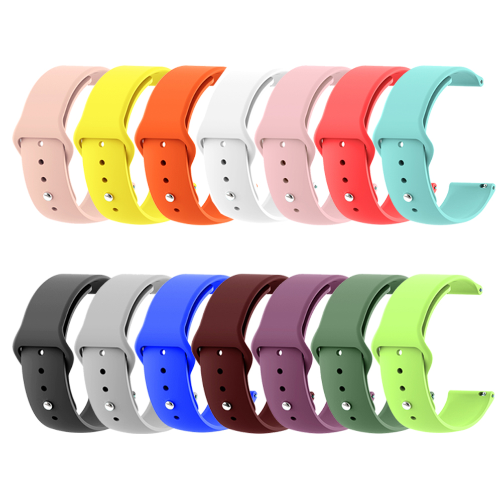 Watch Strap For Amazfit Bip Silicone 20 22mm Colorful Watchband For Samsung Galaxy Watch Active 42mm 46mm Gear S2 S3 Wrist Band
