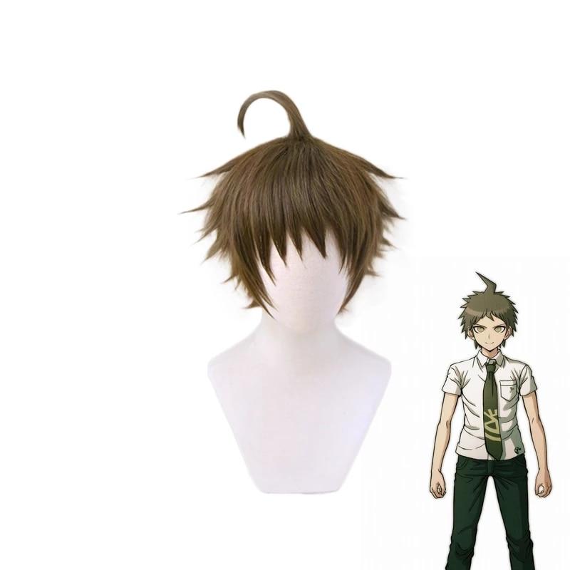 Super Dangan Ronpa 2 Danganronpa Hajime Hinata Wig Heat Resistant Synthetic Hair Pelucas Anime Costume Cosplay Wig