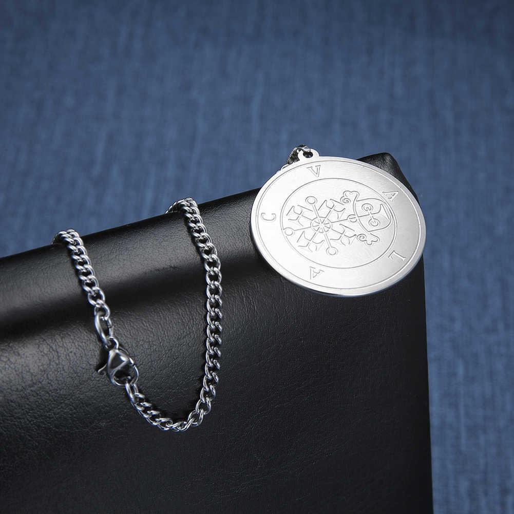 Dawapara wielki prezydent valak-mniejszy klucz salomona pieczęć kabała wisiorek Amulet mężczyźni naszyjnik biżuteria ze stali nierdzewnej