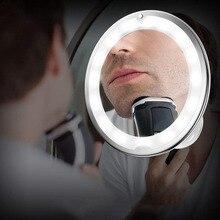 Стиль светодиодный Усилитель макияж зеркало 5X10X гусиная присоска ванная комната зеркало мое гибкое зеркало