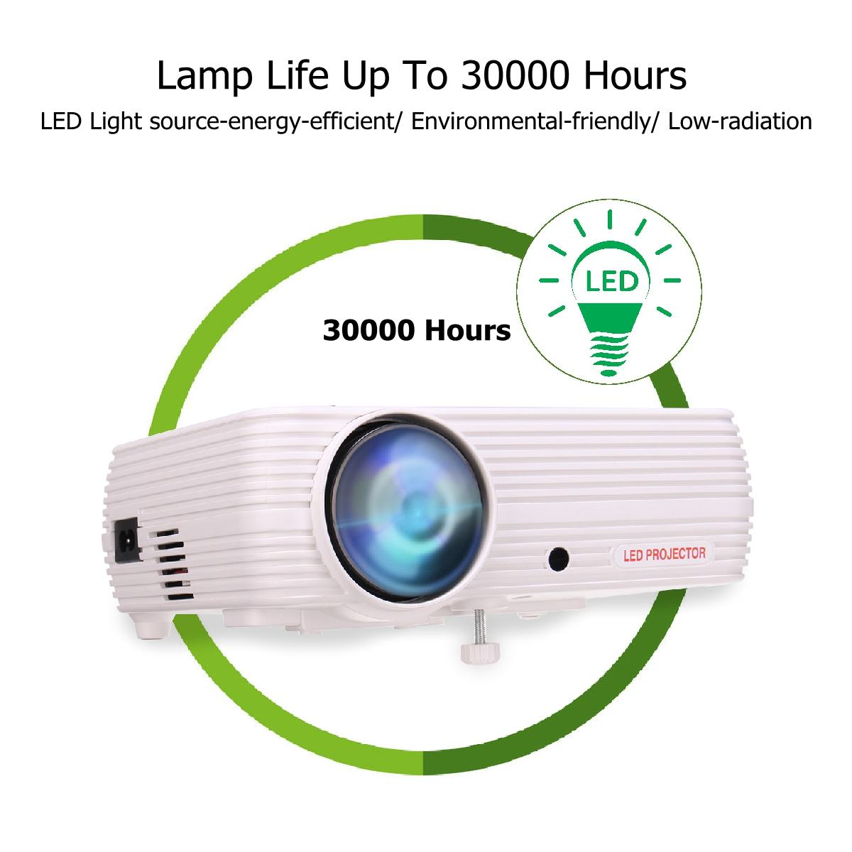 7000 Lumens projecteur Android 6.0.1 Wifi sans fil affichage Home cinéma Proyector soutien Full HD 1080P 4K vidéo avec HDMI - 4